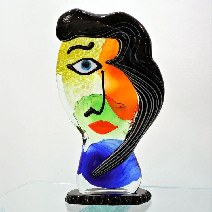 Picasso black hair sculpture