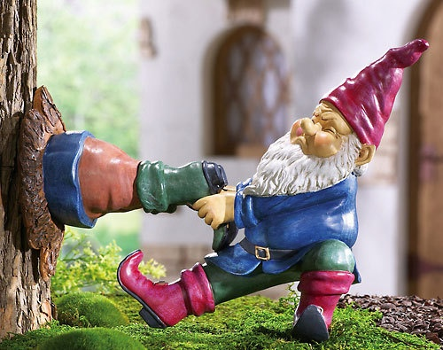 Funny garden gnome *need this for my dad