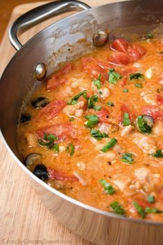 Chicken Marengo Recipe ~ comforting chicken dish with one amazing sauce... Serve with mashed potatoes