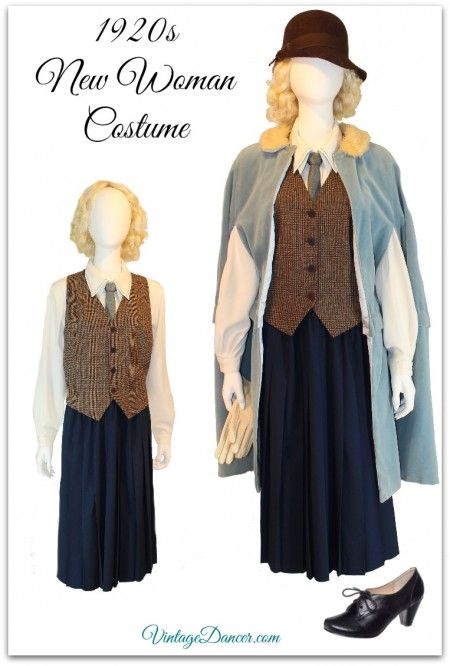 Downton Abbey Edith inspired sporty costume. Create your Downton Abbey look at VinatgeDancer.com