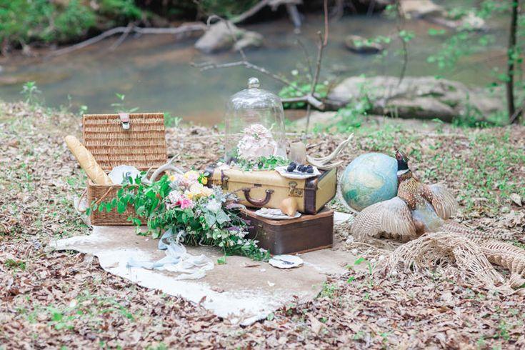 Rustic reception setting - Beautiful Bohemian Elopement Inspiration | Photography : Le Nicole | http://www.fabmood.com/saja-wedding-dress-bohemian-elopement-inspiration: