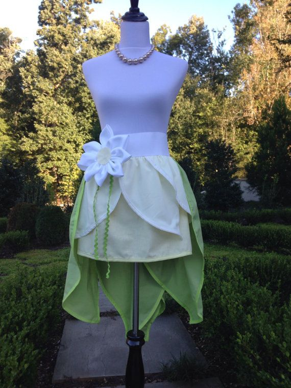 Adult Princess and the Frog …Princess Tiana Premium Two Layered Skirt… Halloween Costume..Matching Family Costume….