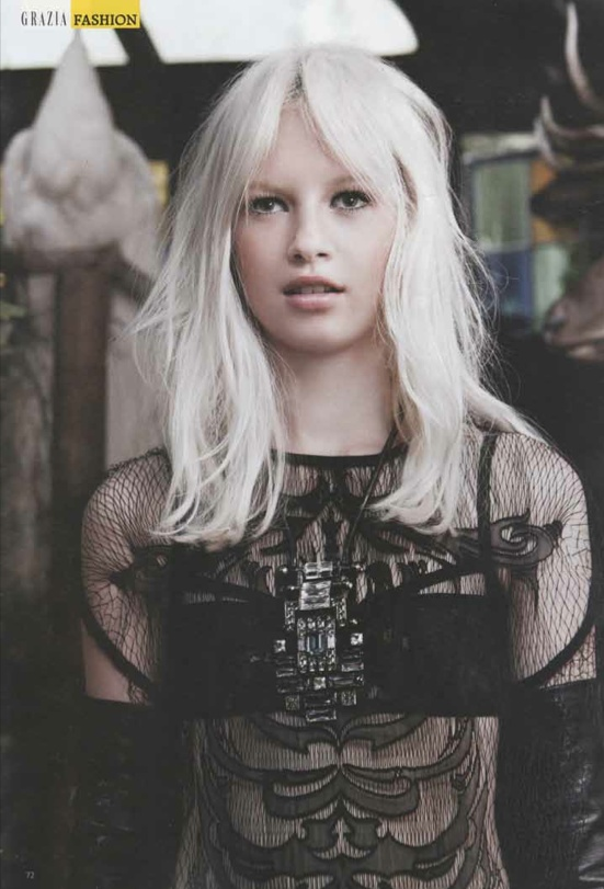 OUR SKELETAL LACE TEE IN GRAZIA MAGAZINE