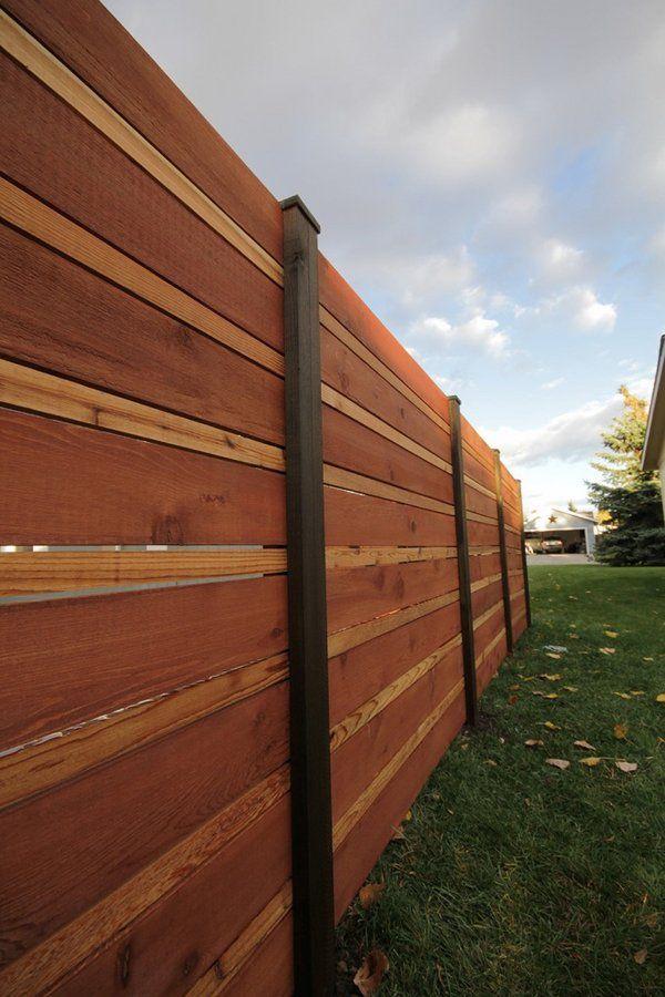 Horizontal Fence Panels | Horizontal Fence Panels U2013 Modern Garden Fence  Design Ideas | Kosip