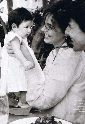 Happier times... Tom Cruise and Katie Holmes with their daughter Suri