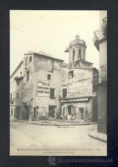 Calendario Imatges del Sabadell antic del 1999: Travessia carrers Església, 1945 (num.48) - Foto 1