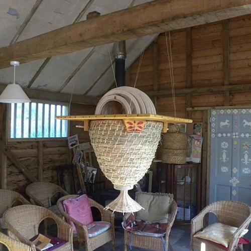 Sun Hive in the Natural Beekeeping Trust classroom
