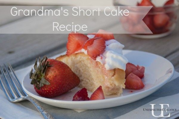 Grandma's Short Cake  2 eggs  1 1/2 cups sugar  1 cup milk  1/2 cup shortening  2 tsp. baking powder  2 cups flour  Combine an...