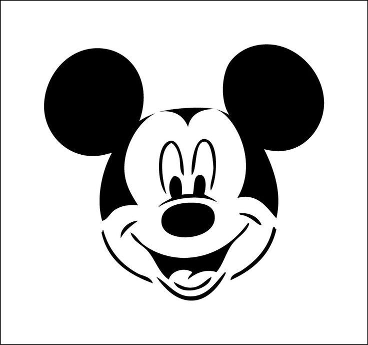 Mickey pochoir de mickey dessin de mickey ref 401 silhouette dessin mickey pochoir et - Dessins minnie ...
