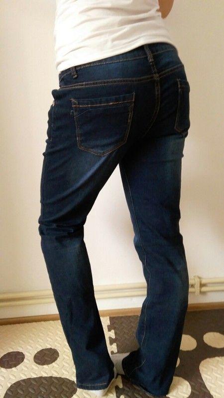 Nové jeans tmavě modré