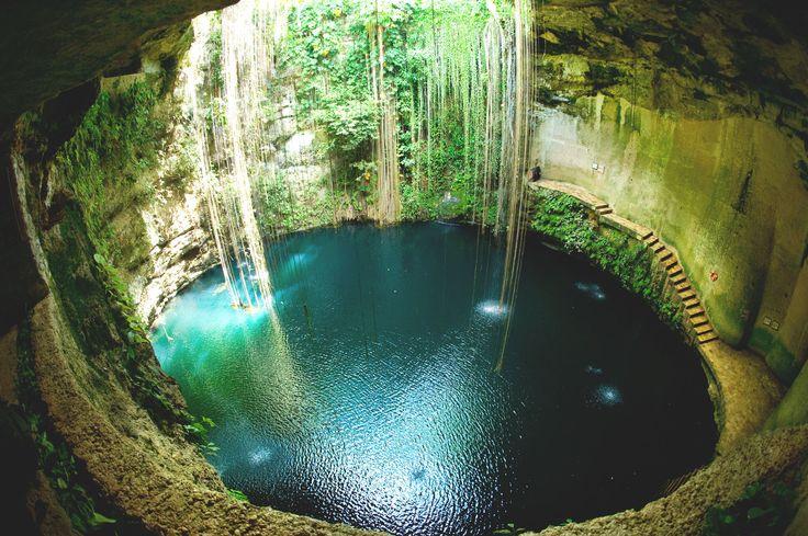 #Cenotes, grotte sotterranee di acqua dolce, fresca e cristallina, caratteristici dello #Yucatan #Messico #Travel #Viaggi #Mexico