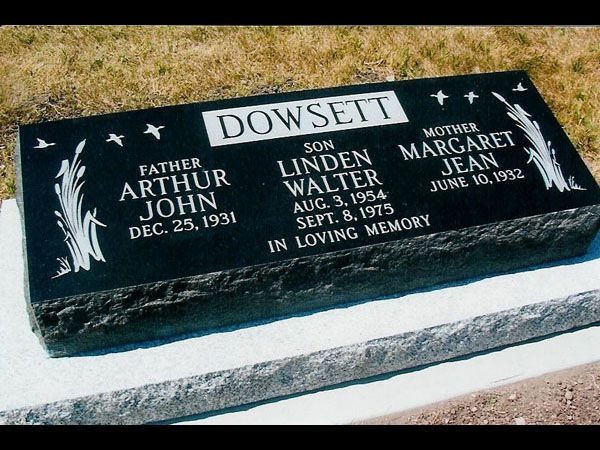 Pay tribute to your loved ones who are no more with you with beautifully crafted slant #grave #markers and #gravestones, monuments, brookside cemetry at Larsen's Memorials. Visit us online or CALL-(204) 633-5053