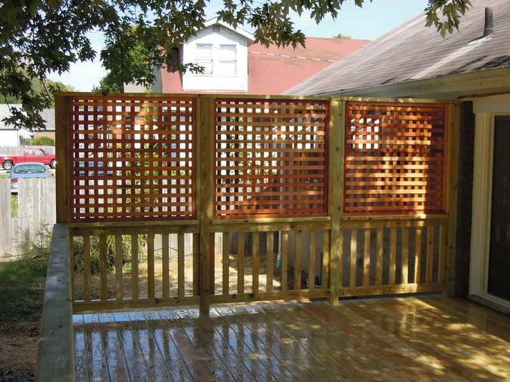 Privacy panels for deck beauty privacy panels for deck for Patio deck privacy screen