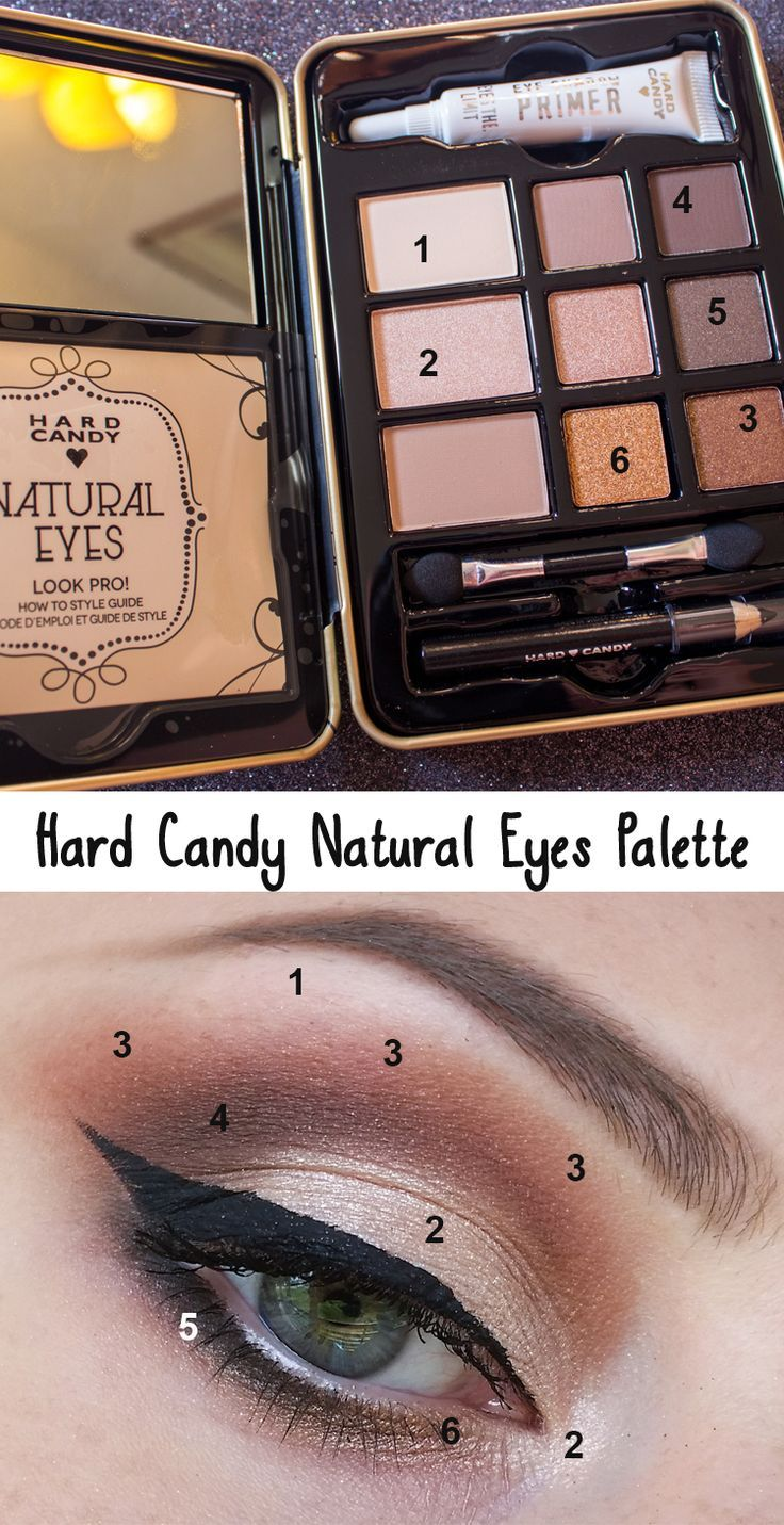 Makeup Natural -                                                      Favorite look using the Hard Candy Natural Eyes Palette