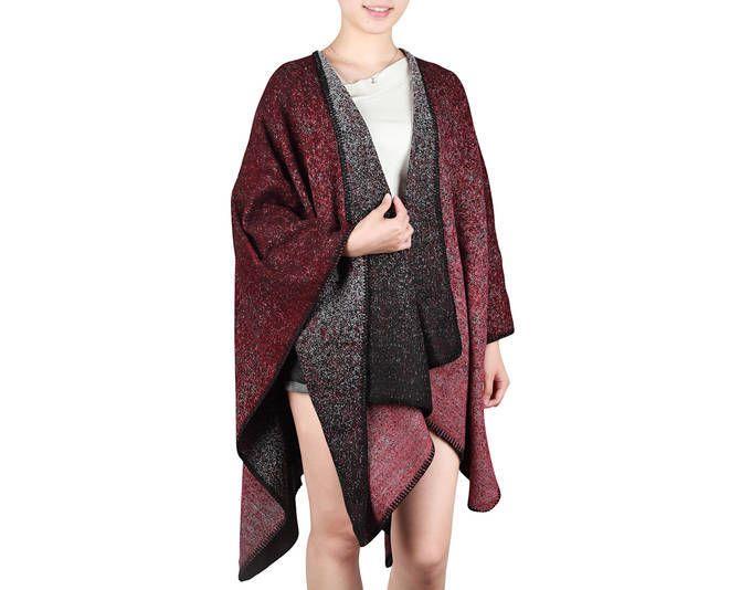 Damen Mode Cardigan Ponch Cape Umhang Strick Jacke Pullover Pulli Lang 21534 ,Farbe: Rot Jetzt bestellen unter: https://mode.ladendirekt.de/damen/bekleidung/pullover/sonstige-pullover/?uid=db15ca14-5eea-53ff-8952-539ea9fddd3d&utm_source=pinterest&utm_medium=pin&utm_campaign=boards #sonstigepullover #pullover #bekleidung
