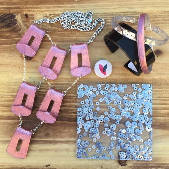 Pretty in pink!  Can't go wrong with sequins and a convertable necklace!