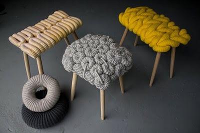 Crotchet stools, Claire Anne O'Brien