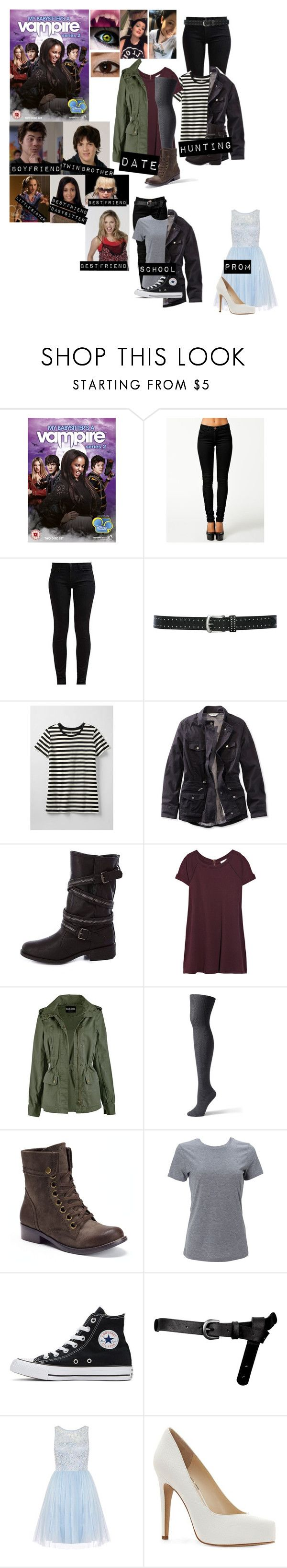 """""""Me in: 'My Babysitter's A Vampire' [re-done]"""" by j-j-fandoms ❤ liked on Polyvore featuring ONLY, 7 For All Mankind, M&Co, Lands' End, L.L.Bean, Charlotte Russe, Vanessa Bruno, 2 Lips Too, Simplex Apparel and Converse"""