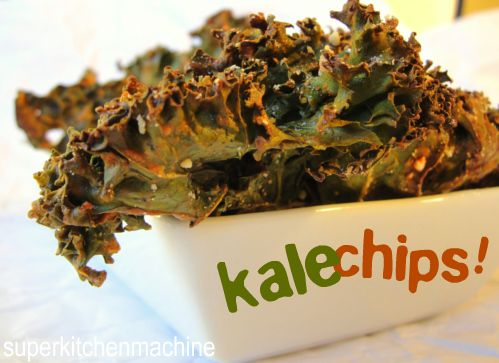Cheesy Kale chips recipe (oven baked) will not use oil....not needed in other recipes viewed. Can swap out sesame seeds and soy with onion powder