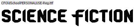 Lettertype, schreefloos SciFi lettertype