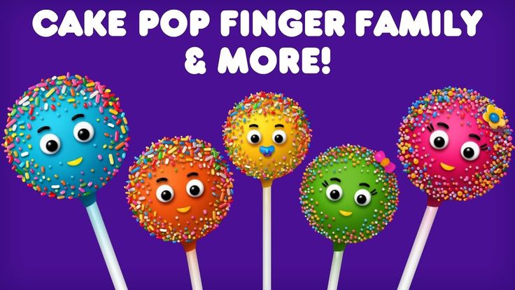 The Finger Family Cake Pop Family Nursery Rhyme | Cake Pop Finger Family Collection Christmas