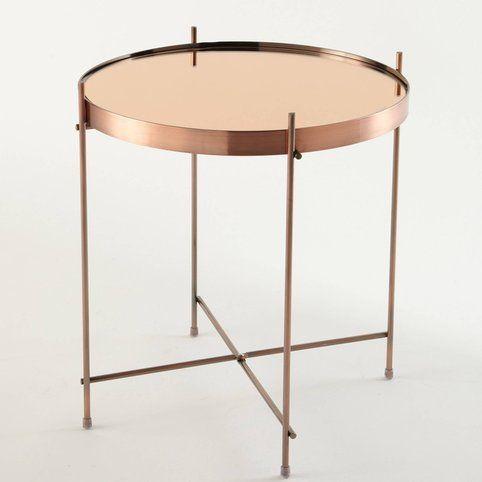 Table basse guéridon métal plateau miroir Cupid Zuiver - Cuivre- Vue 2