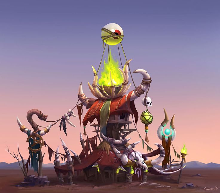 Shaman Orc , Summer Kim on ArtStation at https://www.artstation.com/artwork/shaman-orc-b7667c22-1d89-4f42-9a8d-74dfa1d9ebec