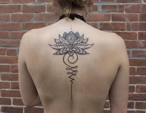 Significado Del Tatuaje Unalome Descubrelo Aqui Significado Del Tatuaje Unalome Con Una Flor De Loto Tatuaje Unalome Unalome Flor De Loto Significado
