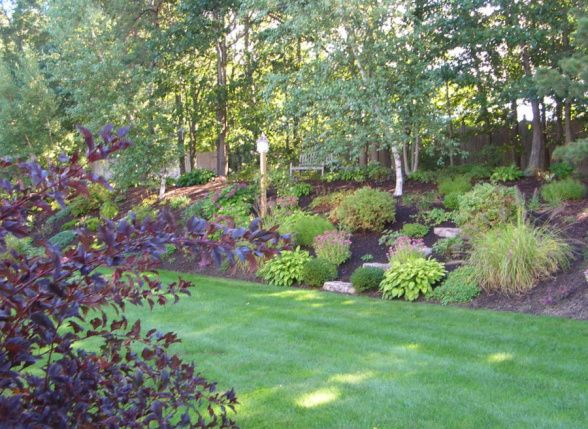 Landscaping Ideas For Shady Hillside : Hillside garden landscaped sloped yard landscape
