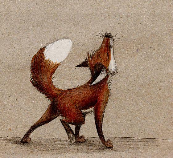 illustration, animal, fox. Lalala by Skia.deviantart.com on @deviantART