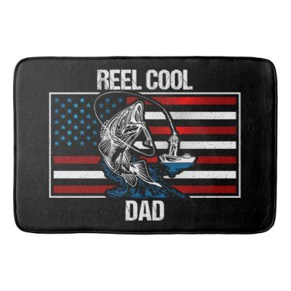 Reel Cool Fishing Dad Bathroom Mat - fathers day best dad diy gift idea cyo personalize father family