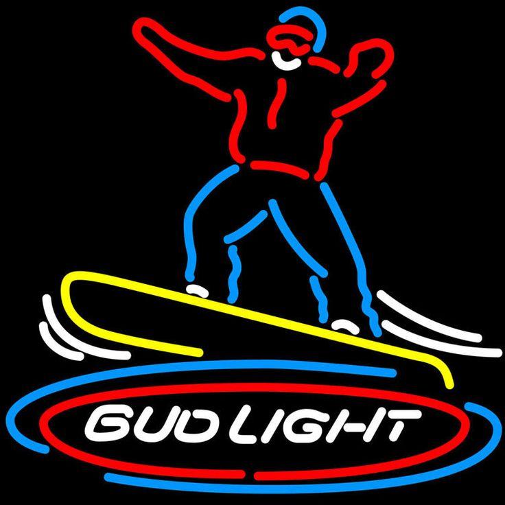 Bud Light Snowboarder Neon Sign