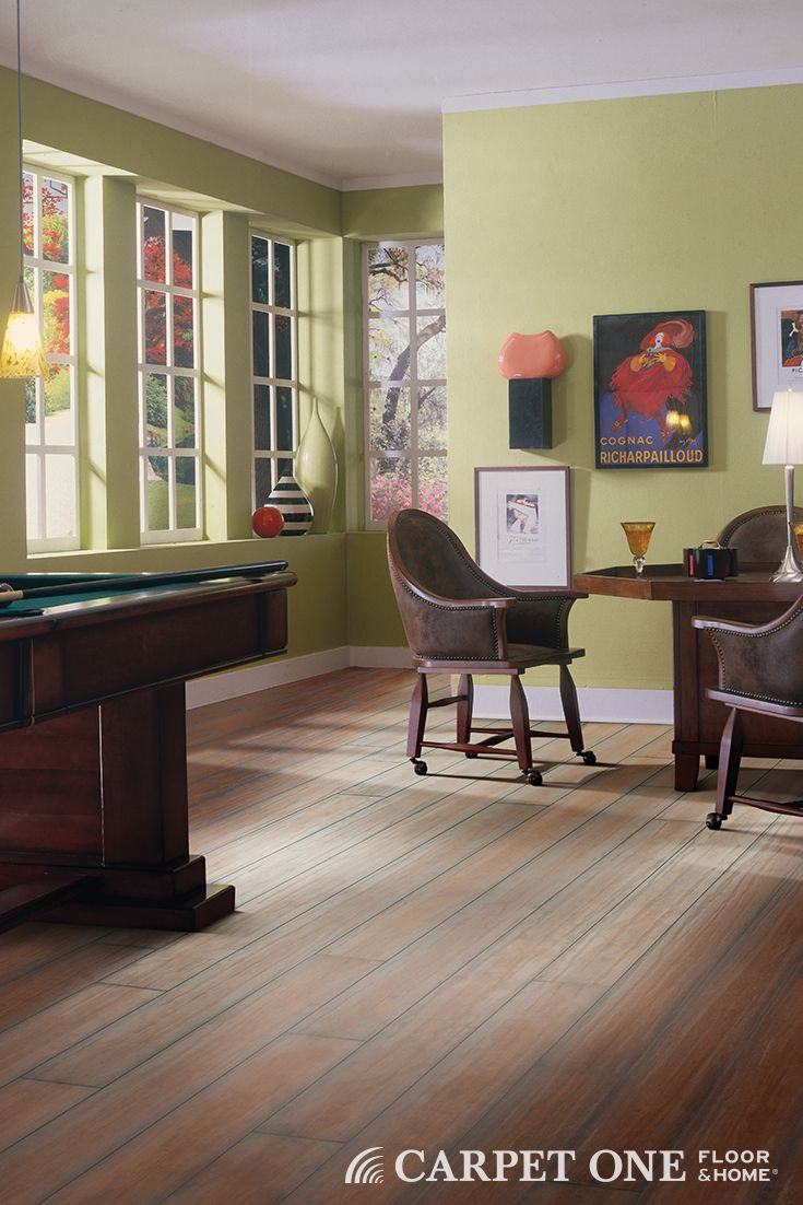 Laminate flooring is ideal for rooms with heavy traffic; it's even perfect for basements.