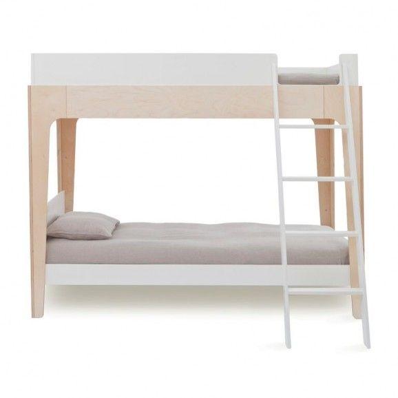 oeuf perch single bunk bed - birch/white