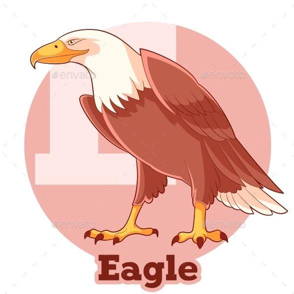Vector image of the ABC Cartoon Eagle