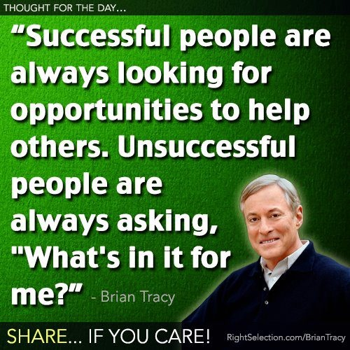 From success/motivational speaker, Brian Tracy.