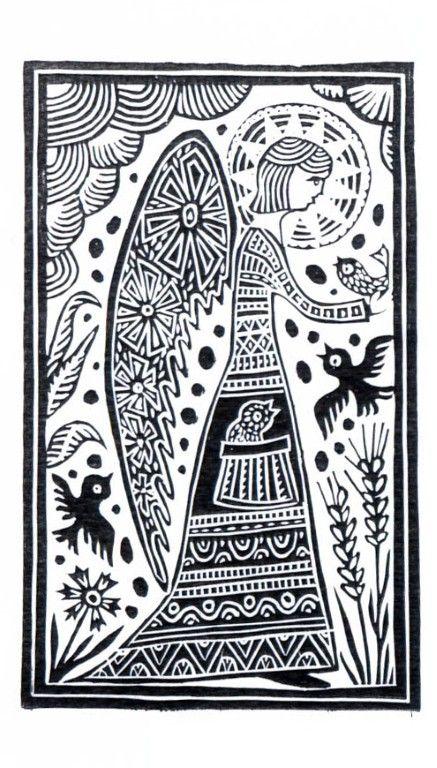 130 Best Holiday Linocut Inspiration Images On Pinterest