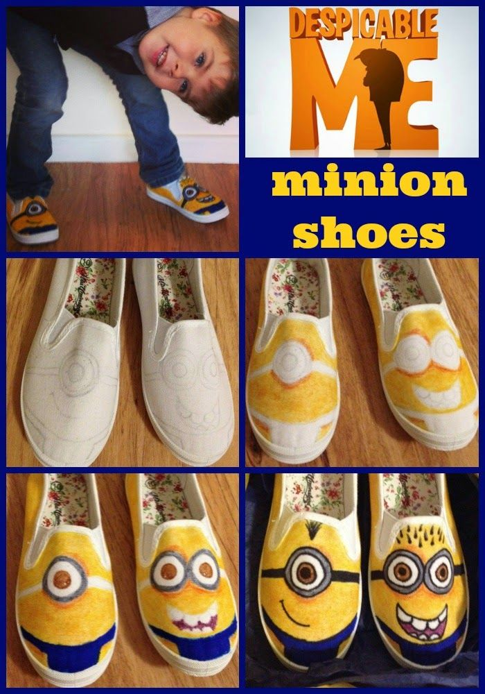 Where's My Glow? : How to make Minion canvas shoes - Glow is seriously a genius.