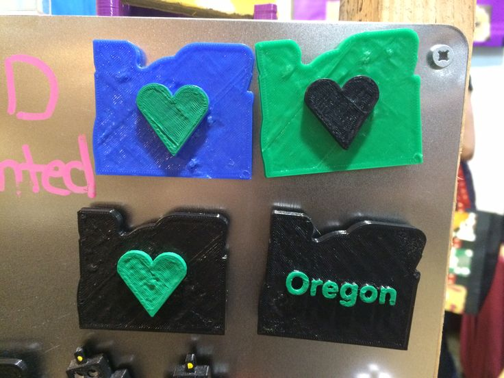 3-D printed fridge magnets, by Wendy Johnson, West Coasters