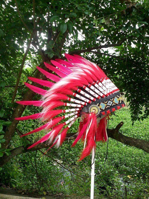 Kids Native American Headdress Chief Indian by TheLandOfCockaigne