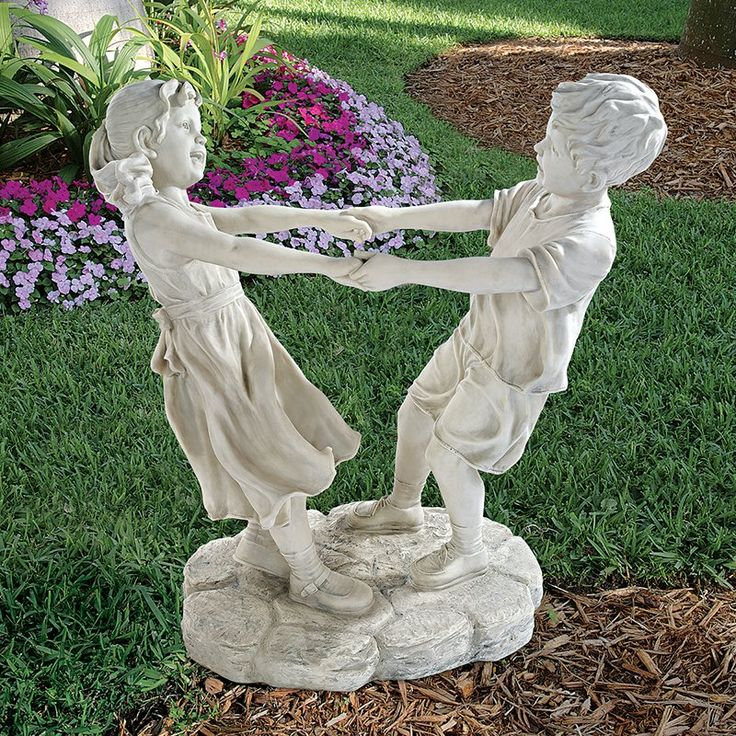 Design Toscano Little Girl And Boy Dancing Garden Statue   Grand   Garden  Statues At Hayneedle