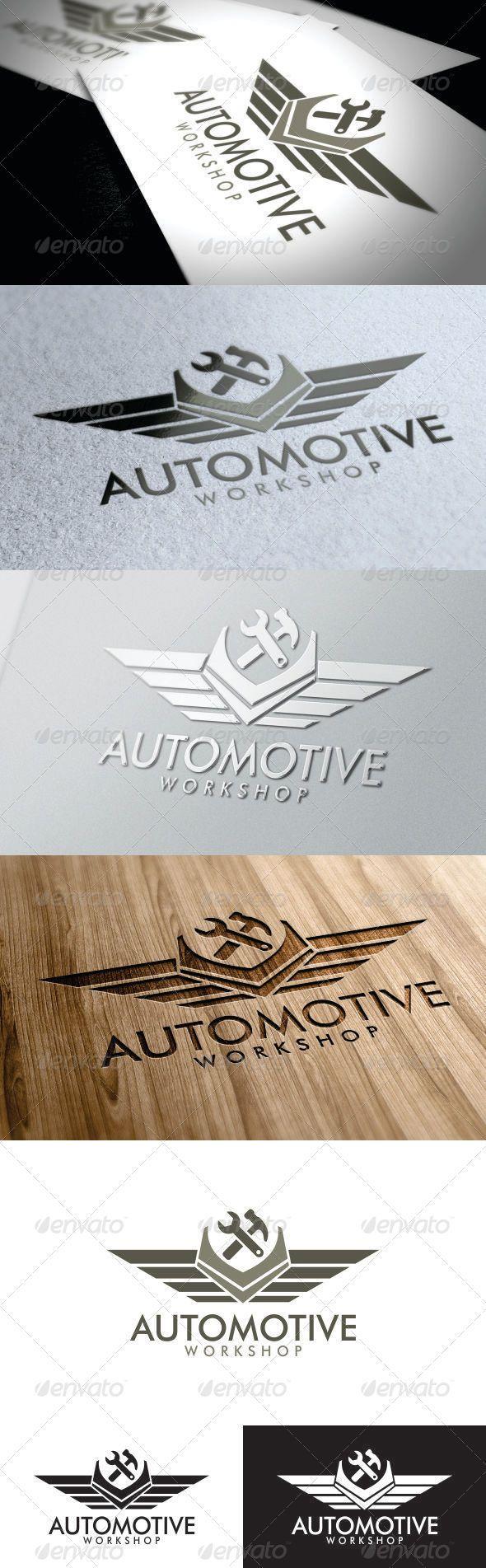 Automotive Workshop Logo  #GraphicRiver