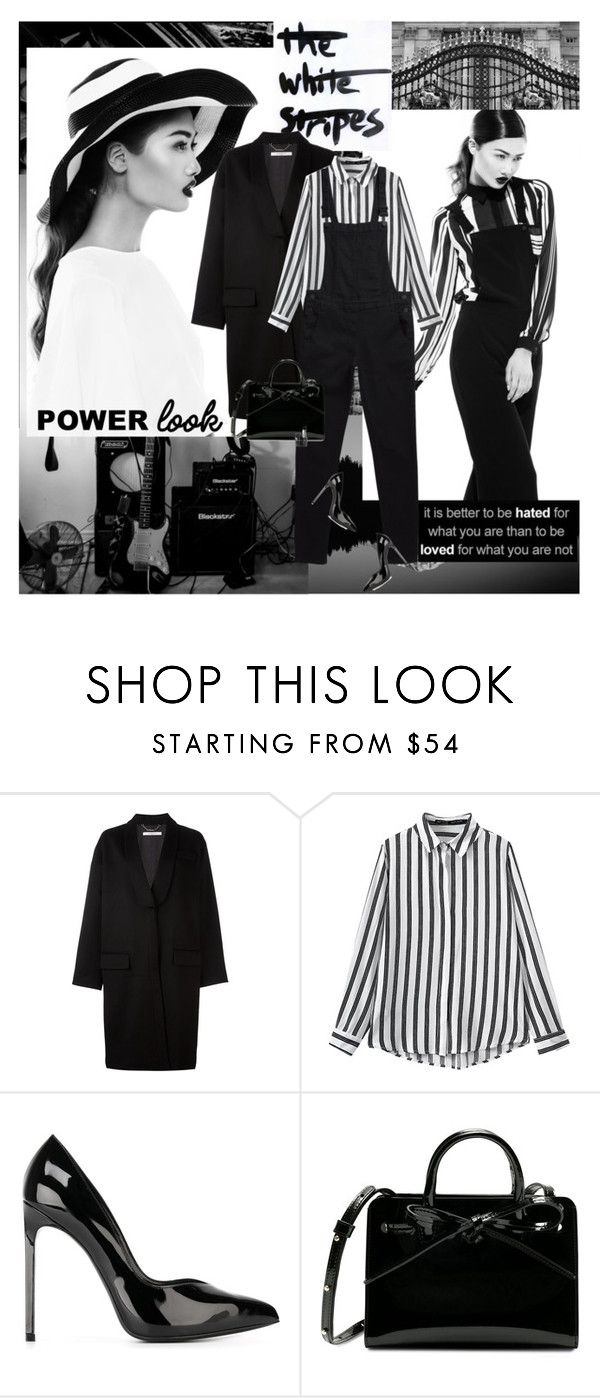 """Black holes and revelations..."" by thisiswhoireallyam7 ❤ liked on Polyvore featuring Givenchy, Yves Saint Laurent, stripes and blackandwhite"