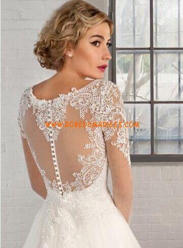 Mousseline wedding dress