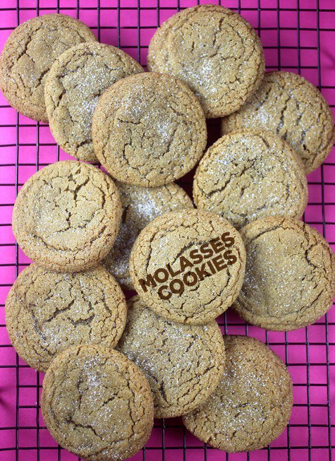 Molasses Cookies | Bakerella