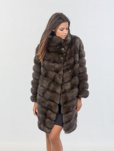 Russian long hair sable fur coat.  Worldwide shipping.    #royal #sable #fur #coat #luxury #online #shop