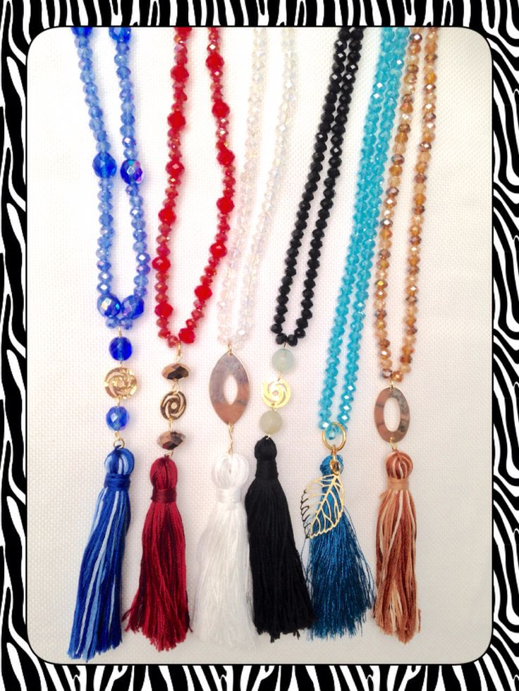 Tassel Necklace Colors, Jewerly