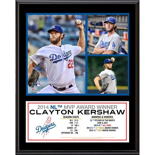 """Clayton Kershaw Los Angeles Dodgers Fanatics Authentic 12"""" x 15"""" 2014 National League MVP Sublimated Plaque - $39.99"""
