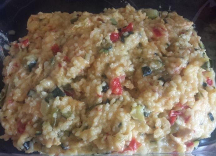 Arroz con pollo y calabacín para #Mycook http://www.mycook.es/receta/arroz-con-pollo-y-calabacin