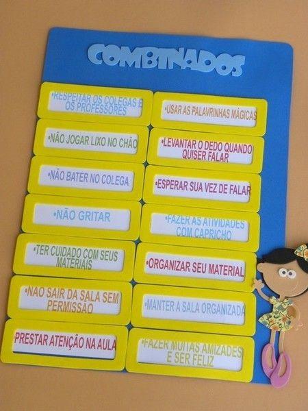 Placa de rotina: Combinados DECORAÇÃO PARA SALA DE AULA 2014 A PETILOLA tem cada novidade para volta às aulas. Sua sala de aula vai ficar linda!!! Confira as novidades no site www.petilola.com.br